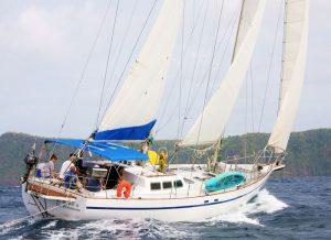 Calliope sailing Bequia