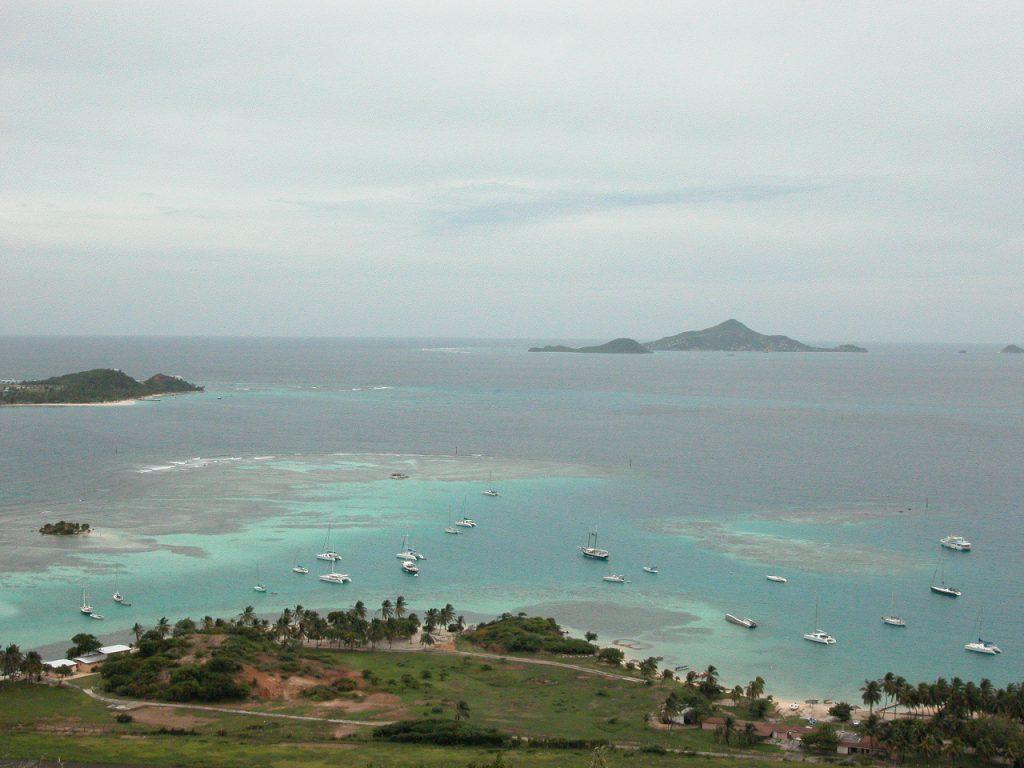 Union Island reef, kite beach, Petite Martinique in background