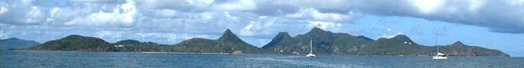 Union Island silhouette from Mayreau